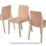 Krzesło restauracyjne drewniane Bart AS aranż