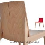 Krzesło restauracyjne drewniane Bart AS detal