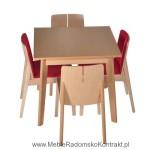 Krzesło restauracyjne drewniane Bart AS komplet