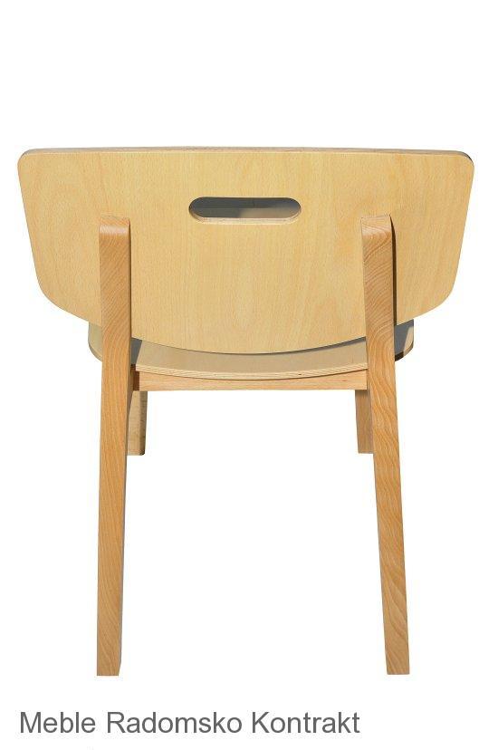 Krzesło restauracyjne drewniane Lof AS,