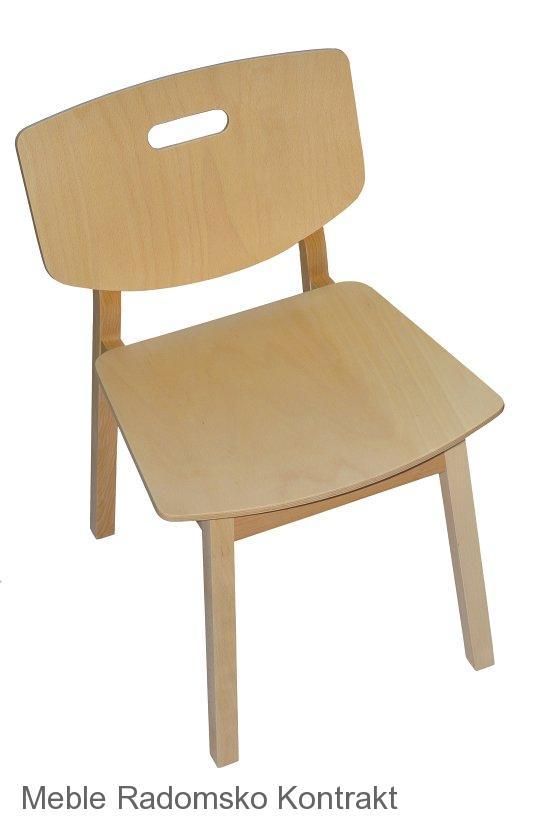 Krzesło restauracyjne drewniane Lof AS'
