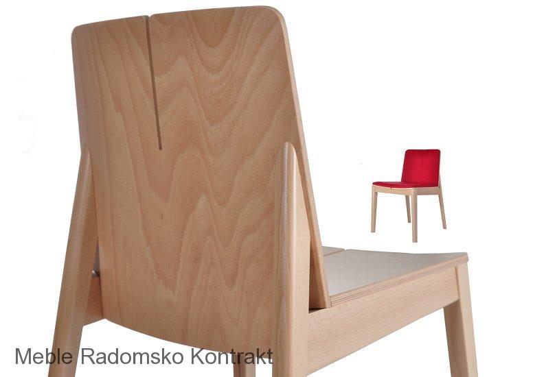 Krzesło restauracyjne nowoczesne Bart AS detal