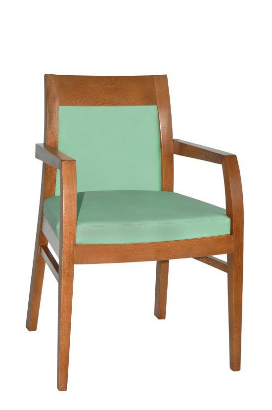 Fotel restauracyjny tapicerowany Rema BS.