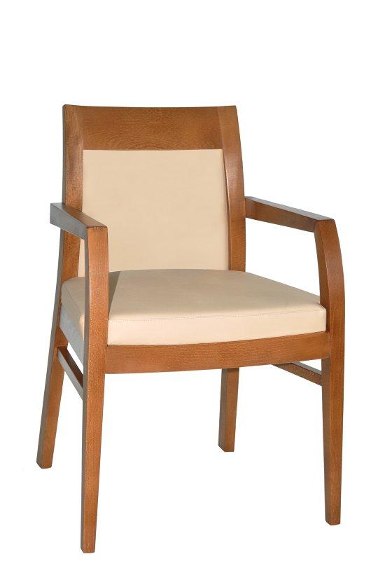 Fotel restauracyjny tapicerowany Rema BS