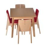 Krzesło restauracyjne tapicerowane Bart AS komplet