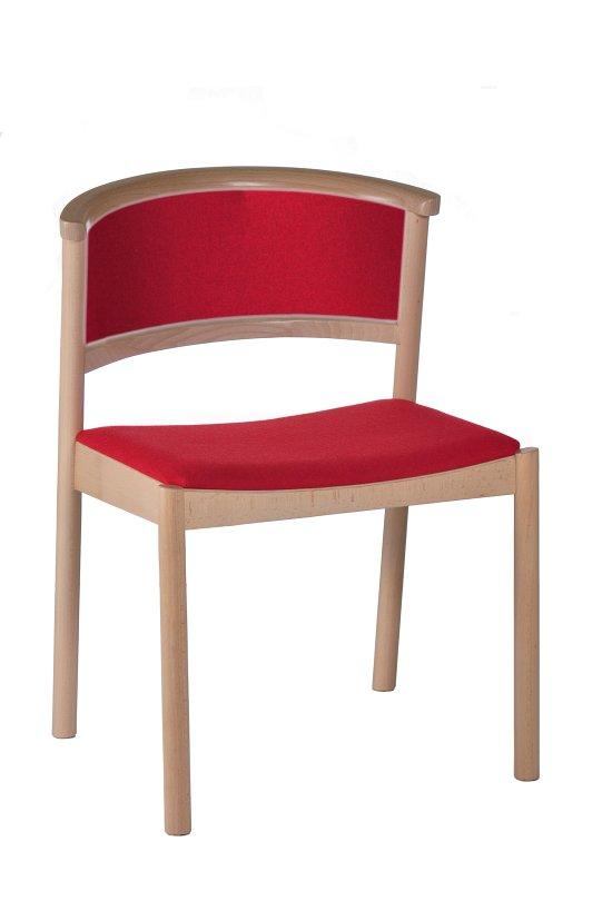 Krzesło restauracyjne tapicerowane Cirila A1