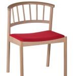Krzesło restauracyjne tapicerowane Cirila AS,
