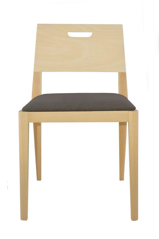 Krzesło restauracyjne tapicerowane Nowa AS.