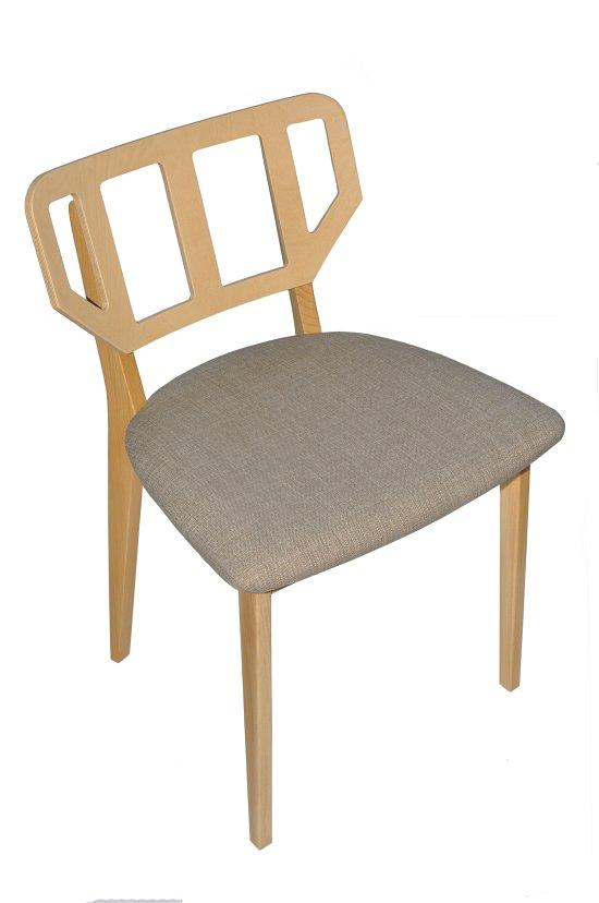 Krzesło restauracyjne tapicerowane Saglio AS.